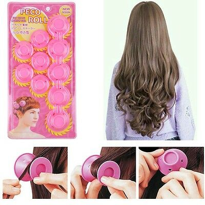 30 pcs Magic Soft Rollers Silicone No Heat Hair Curlers Hair Care DIY Pink