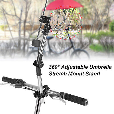 Adjustable Umbrella Stretch Mount Stand Holder Stroller Baby Pram Cart Bicycle H