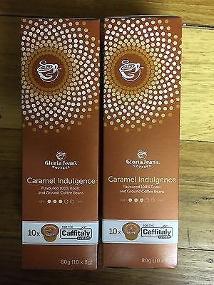 20 Capsules Caramel Indulgence Gloria Jean's Coffees Capsules  Pods Caffitaly