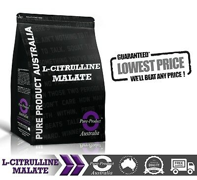 Pure L-Citrulline Malate - 1Kg Intra Workout Pump Muscle Builder Nitric Oxide