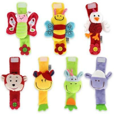 Animal Baby Rattles Doll Baby Soft Wrist Strap Toy Infant Newborn Plush Toys B