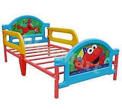 NEW Kid Furniture Steel Frame Toddler Bed Sesame Street Elmo