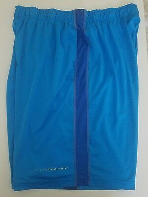 Men's Nike Dri Fit Shorts Size XL Blue Yellow X-Large Livestrong Lined