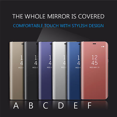 Smart Electroplating Mirror View Clear Flip Case Cover For iPhone 8 7 7Plus 6 6S