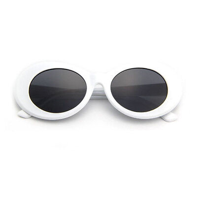 Vintage Classic Kurt Cobain Clout Goggles Sunglasses White Oval Shades Grunge