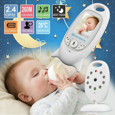 Wireless 2.4GHz Digital LCD Color Baby Monitor Audio Video Night Vision Cam UK