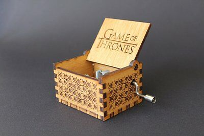Engraved wooden music box crafts Game Of Thrones - Theme