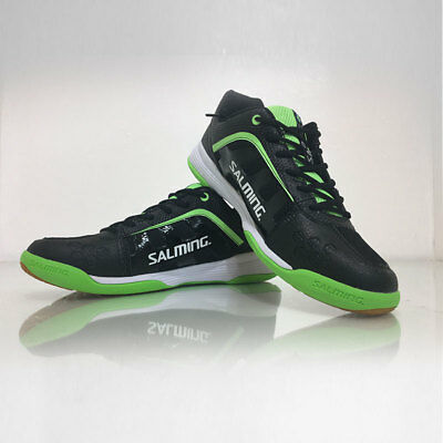Salming Adder Men's indoor Court Squash Shoes - Black / Green