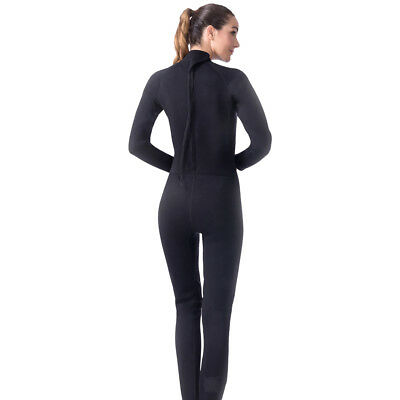 Womens 3mm Full Body Sports Long Sleeve Wetsuit Jumpsuit for Diving Surfing