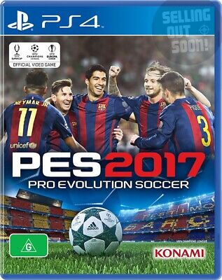 Pro Evolution Soccer 2017 (PS4) *NEW & AUSSIE* PES 17 Football Jersey Boots Ball