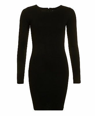 New Womens Superdry Factory Second Augusta Bodycon Dress Black