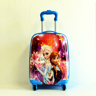 Kid Gift Wheeled Rolling Suitcase Travel Bag Luggage Trolley ( 4-Wheel Frozen )