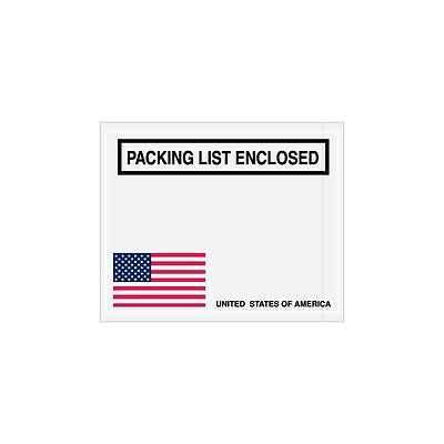 "Box Packaging ""Packing List Enclosed"" Envelope, 2 Mil Poly, 4.5"" x 5.5"" 1,000/cs"