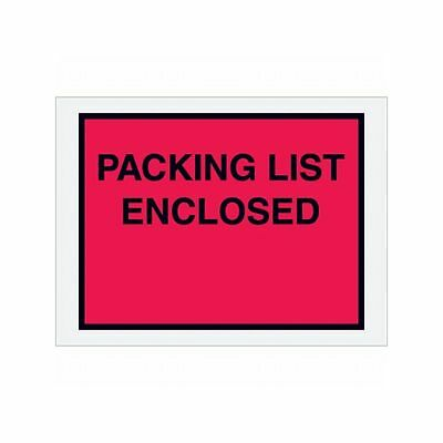 "Box Packaging ""Packing List Enclosed"" Envelope, 2 Mil Poly, 4.5"" x 6"" 1,000/cs"