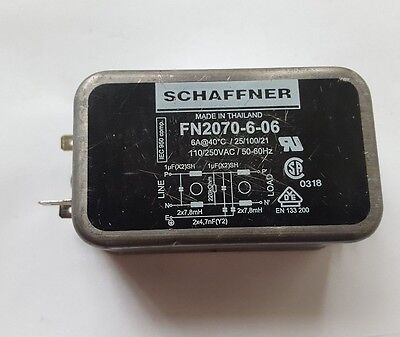 Schaffner Fn2070-6-06 Emi Power Line Filter (R3S8.5B2)