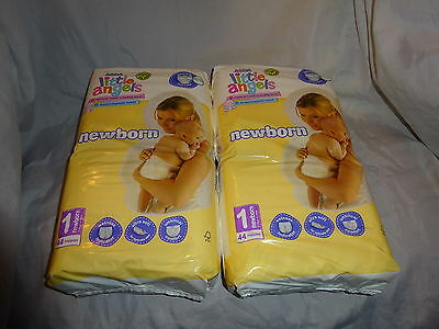 Little Angels Nappies X 88 Newborn Size 1.