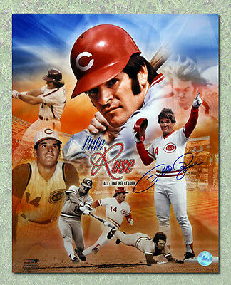 Pete Rose Cinncinnati Reds Autographed All Time Hit Leader 16x20 Photo