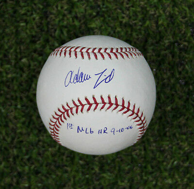 Adam Lind Autographed with First HR Note Official Rawlings MLB Baseball