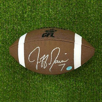 Jeff Garcia Autographed CFL Wilson Composite Football - Calgary Stampeders