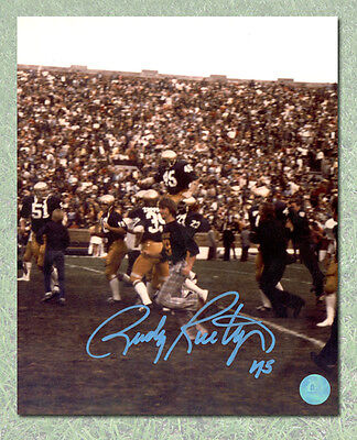 Rudy Ruettiger University of Notre Dame Autographed Carry-Off 11x14 Photo