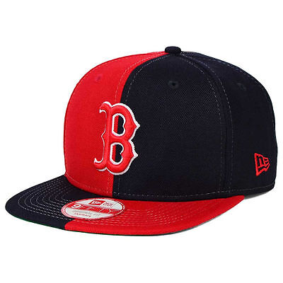 Boston Red Sox New Era MLB Double Split em 9FIFTY Snapback Cap Hat FlatBill  Brim 71389b5670a8