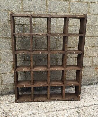 The Standard Wider! Industrial Up-Cycled Pigeon Hole Shelving Unit