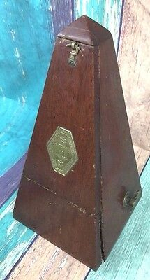 Antique De Maelzel Metronome Paris France Wood Mechanical Music Timer 1800's ?