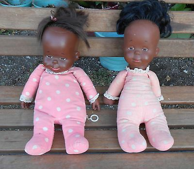 Vintage Black Drowsy Dolls MATTEL One Talks! -other doesn't Pull-string talkers