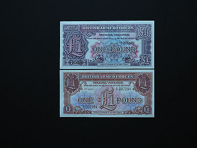Great Britain Banknotes  -  British Armed Forces Early Set Of Two     Mint Unc