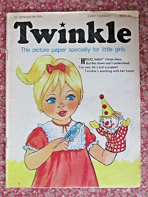 TWINKLE COMIC.  NO.108  FEBRUARY 14th .1970. CINDERELLA IN PANTOMIME LAND.