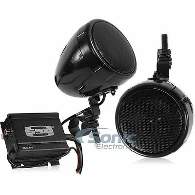 "SoundStorm SMC70B Bluetooth Motorcycle/UTV 3"" Speakers + 600 Watt Amplifier"