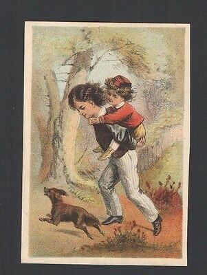 Advertising Trade Card Bush & Co's Improved BORAX SOAP  He's Not Heavy Brothers
