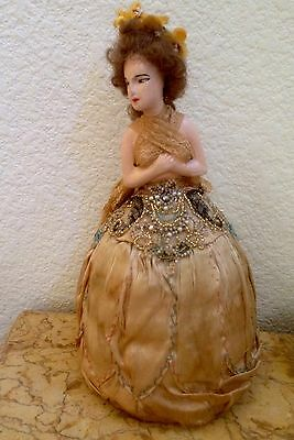 ANTIQUE BOUDOIR DOLL Intricate Bead Work