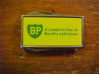 BP Oil Company Lubricants Money Clip with 2 Blades