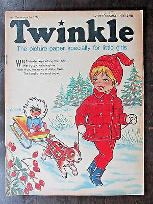 TWINKLE COMIC.  NO.206  JANUARY 1st.  1972. NEW YEAR ISSUE!