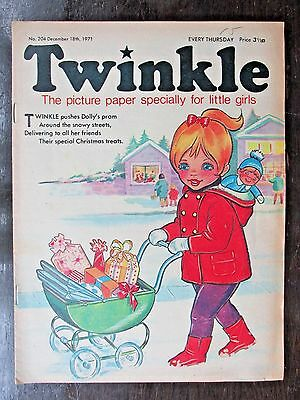 TWINKLE COMIC.  NO.204  DECEMBER 18th.  1971. CHRISTMAS COVER!