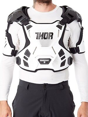 Thor White 2017 Guardian MX Chest Protector
