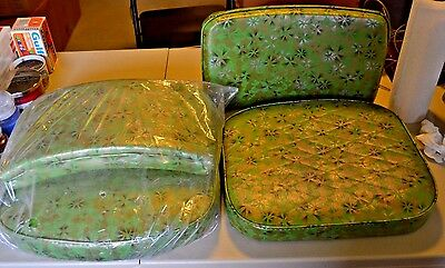 2 Vintage Deluxe Dinette Replacement Seats And Backs, Screw On Type, New! Cool!