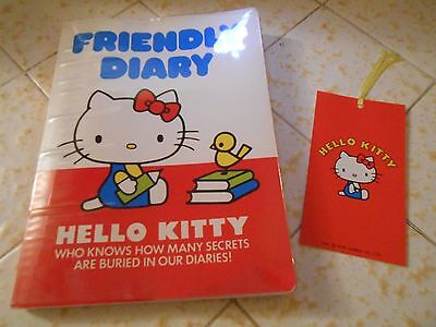 Vintage 1970s Sanrio Hello Kitty Friendly Diary -A little used, entry says 1978