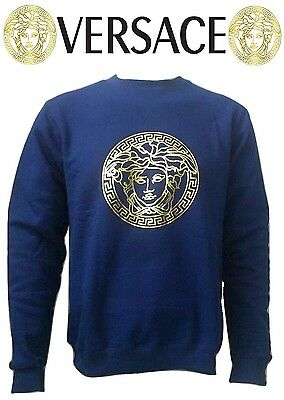 New Versace 2015 Gold Medusa regular crew sweatshirt jumper top 175$ promotion