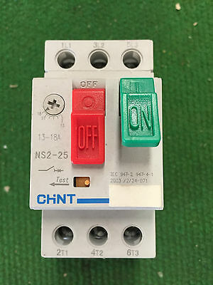 CHINT AC MOTOR Starter NS2-25 . 18amp Current Rating (13 - 18A ...
