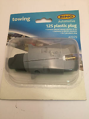 Ring Automotive Towing 12S 7 Pin Plastic Plug A0029