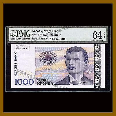 Norway 1000 Kroner, 2004 P-52b E.Munch PMG 64 EPQ