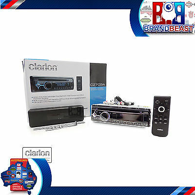 Clarion Cz703au Cd Mp3 Usb Aux In 3 Pre Out 5v Bluetooth Multi Color Pandora
