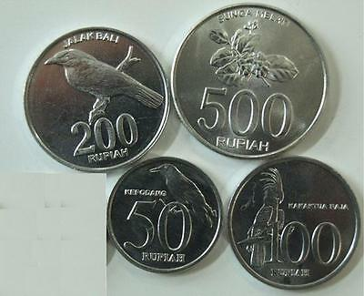 Indonesia 5-Piece Uncirculated Coin Set, 25 To 500 Rupiah