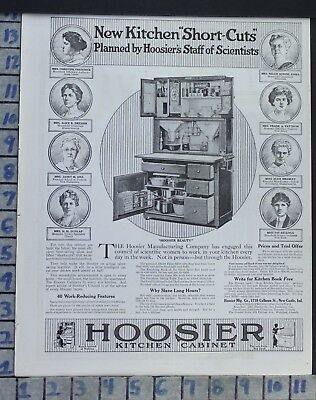1917 Hoosier Kitchen Cabinet House Home Decor Vintage Art Ad  Cb50