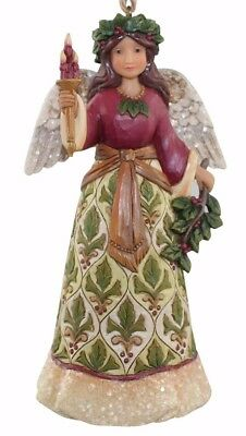 Jim Shore~Victorian Angel W Candlestick Ornament~Christmas~Winter~4058758