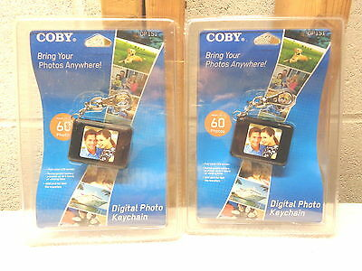 """2 COBY 1.5"""" LCD Digital Photo Keychains~DP151~Holds 60 Photos~New!"""