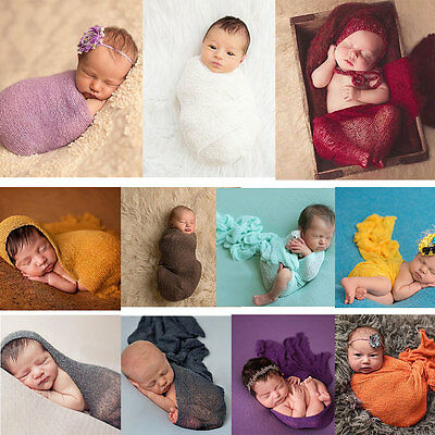Newborn Baby Lace Cloth Wrap Outfit Photo Photography Prop Multi-color dfs