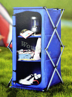 Instant Pop-up Collapsible Camping Storage Shelf Cupboard Pantry Shoe Cabinet